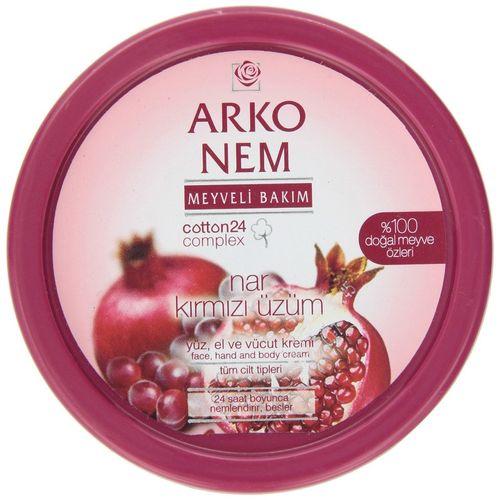 کرم مرطوب کننده میوه ای آرکو نم مدل Promegranate And Red Grape حجم 150 میلی لیتر