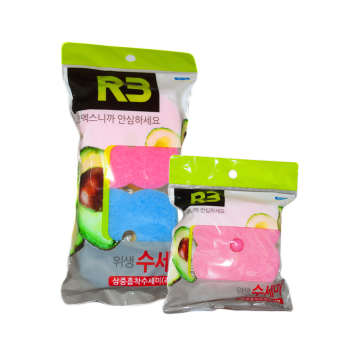 اسکاچ ظرفشویی کومکس مدل R3 مجموعه 3 عددی به همراه پایه نگهدارنده