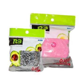 پک اسکاچ و سیم ظرفشویی کومکس مدل R3 بسته 2 عددی
