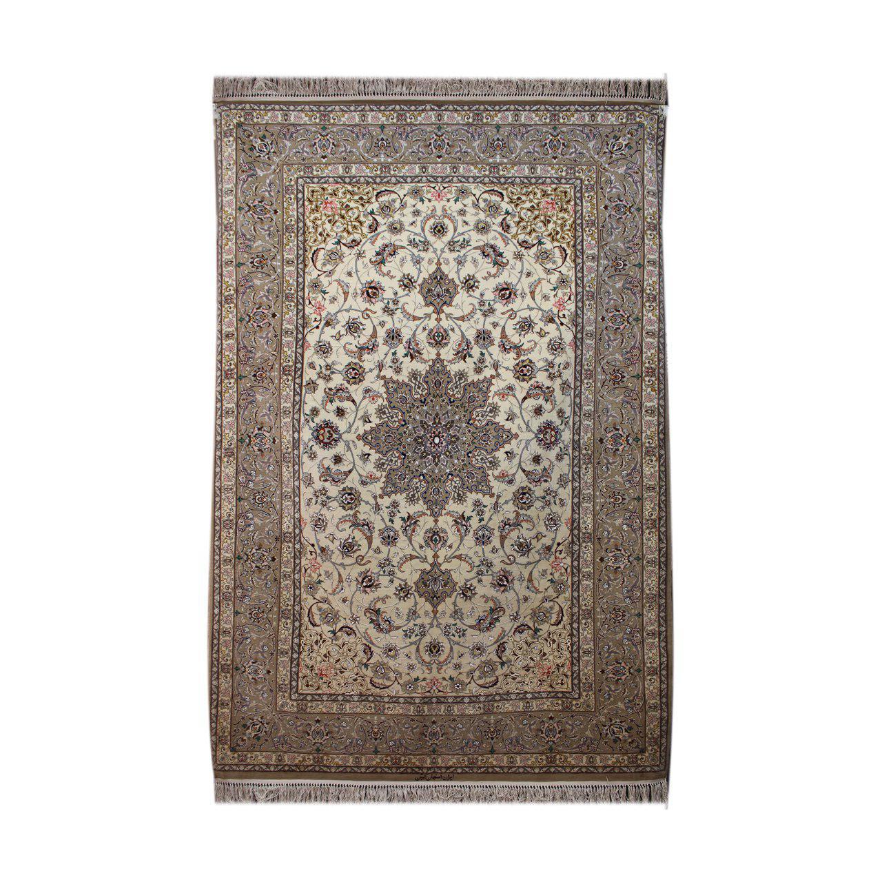فرش دستبافت اصفهان ابتین سه متری کد 1104430