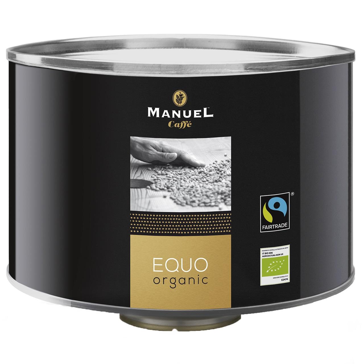 دانه قهوه مانوئل مدل Euqo Organic قوطی 1000 گرمی