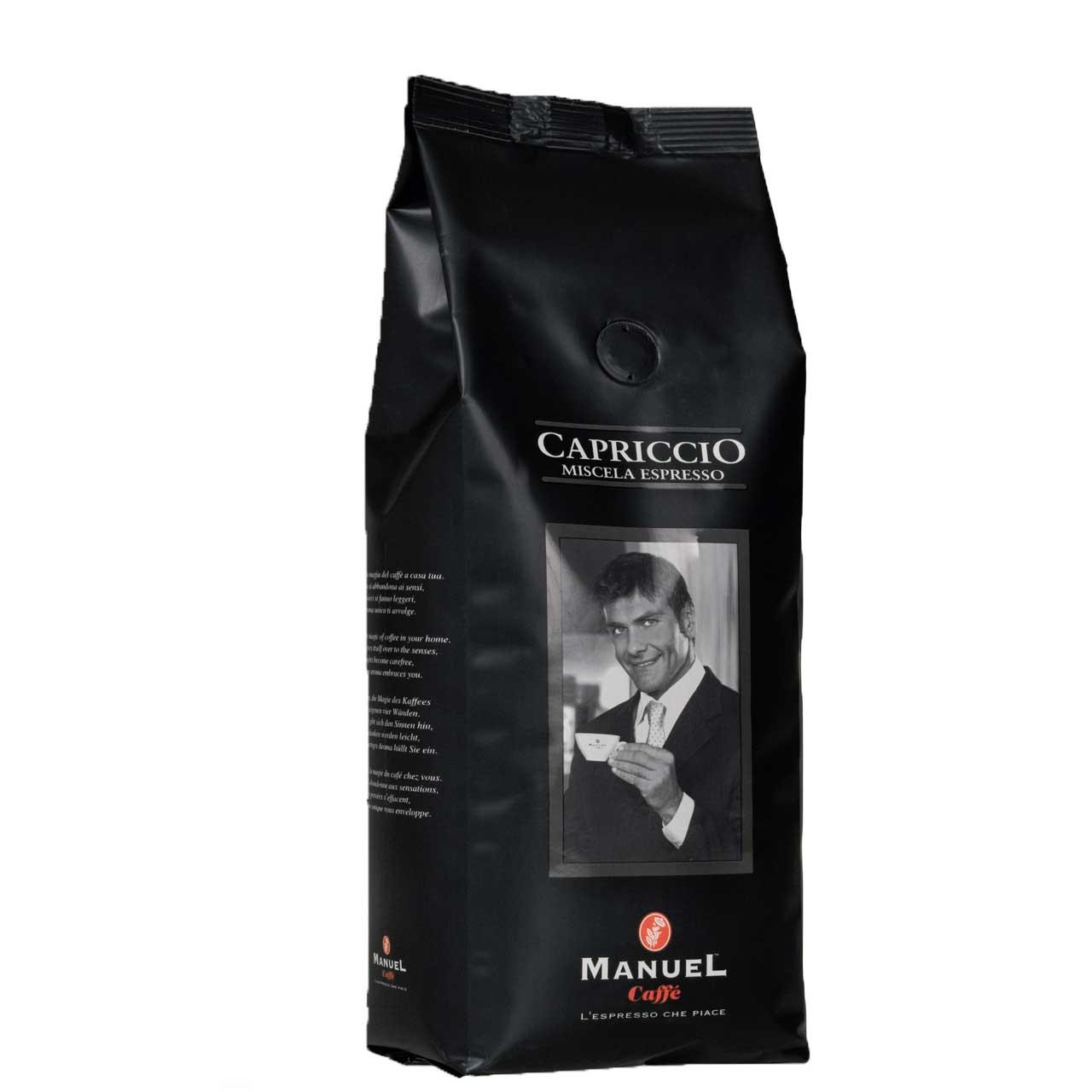 دانه قهوه مانوئل کافه مدل capriccio بسته 500 گرمی