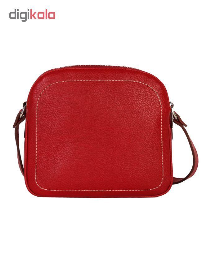 کیف دوشی رویال چرم کد W61-Red main 1 1