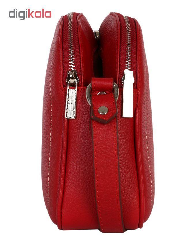 کیف دوشی رویال چرم کد W61-Red main 1 2