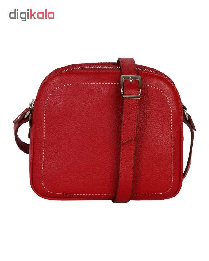 کیف دوشی رویال چرم کد W61-Red main 1 3