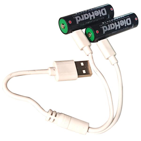 باتری قلمی قابل شارژ دایهارد مدل micro-usb بسته 2 عددی