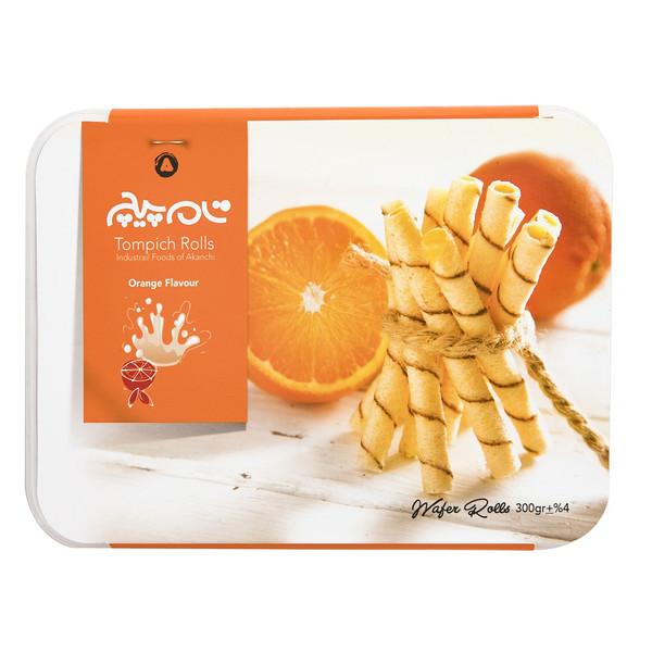 ویفر با طعم پرتقال تام پیچ مقدار 300 گرمی