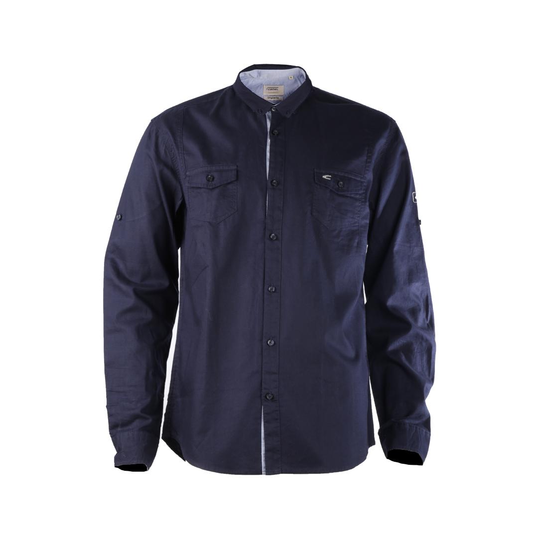 پیراهن آستین بلند مردانه کمل مدل SMN-2020-020