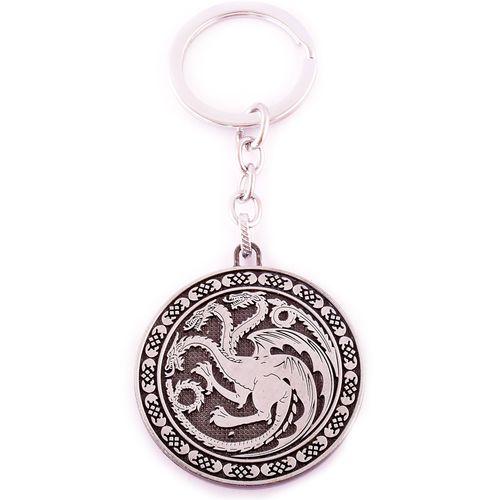 جاسوییچی طرح سریال بازی تاج و تخت مدل Fire and Blood Targaryen Silver