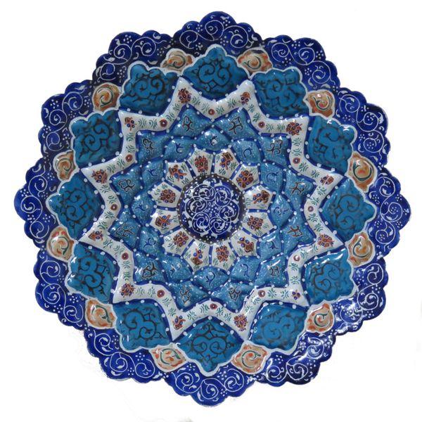 بشقاب مسی مینا کاری شده مدل اصفهان کد 02