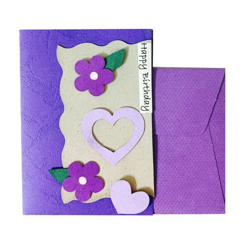 کارت پستال دست ساز مدل Happy Birthday Flower03