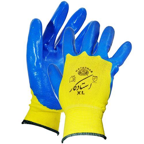 دستکش ایمنی استاد کار مدل Nitrile سایز XL