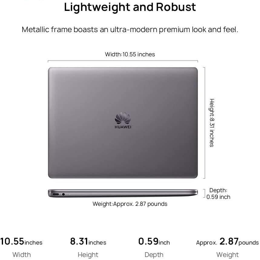 لپ تاپ 13 اینچی هوآوی مدل MateBook 13 WRTB-WAH9L - B