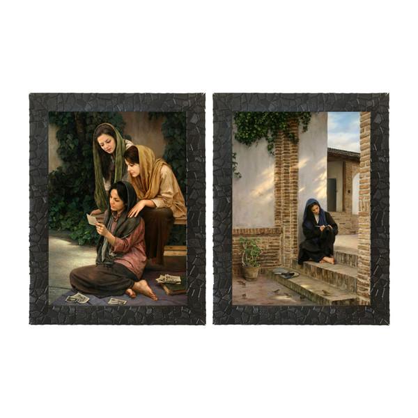 تابلو  چاپ سی طرح مجموعه نقاشی های استاد ایمان ملکی کد LS004  مجموعه 2 عددی