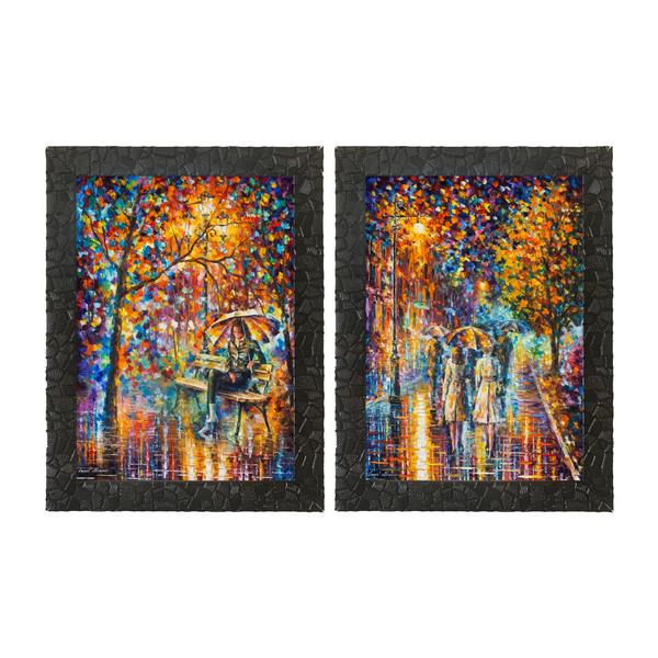 تابلو  چاپ سی طرح مجموعه نقاشی های لئونید آفرمو کد LS010  مجموعه 2 عددی