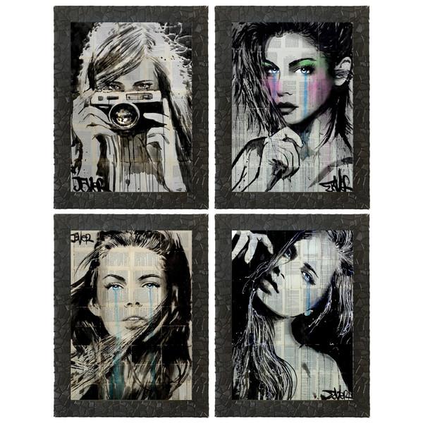 چاپ سی طرح مجموعه نقاشی های لویی پل جور کد LS012  مجموعه 4 عددی