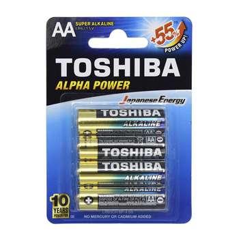باتری قلمی سوپر آلکالاین  مدل Alpha Power بسته 4 عددی
