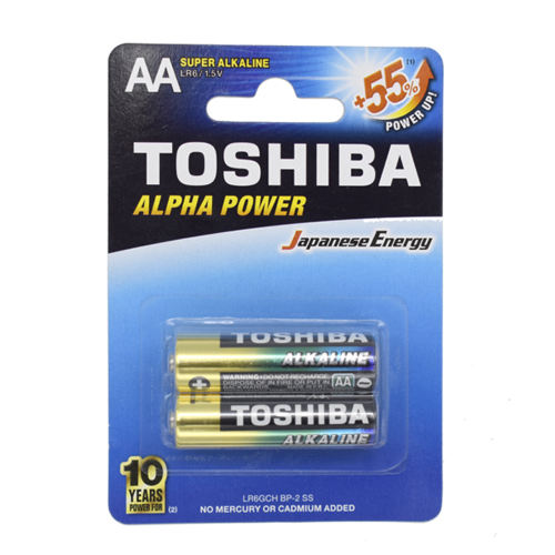 باتری قلمی سوپر آلکالاین توشیبا مدل Alpha Power بسته 2 عددی