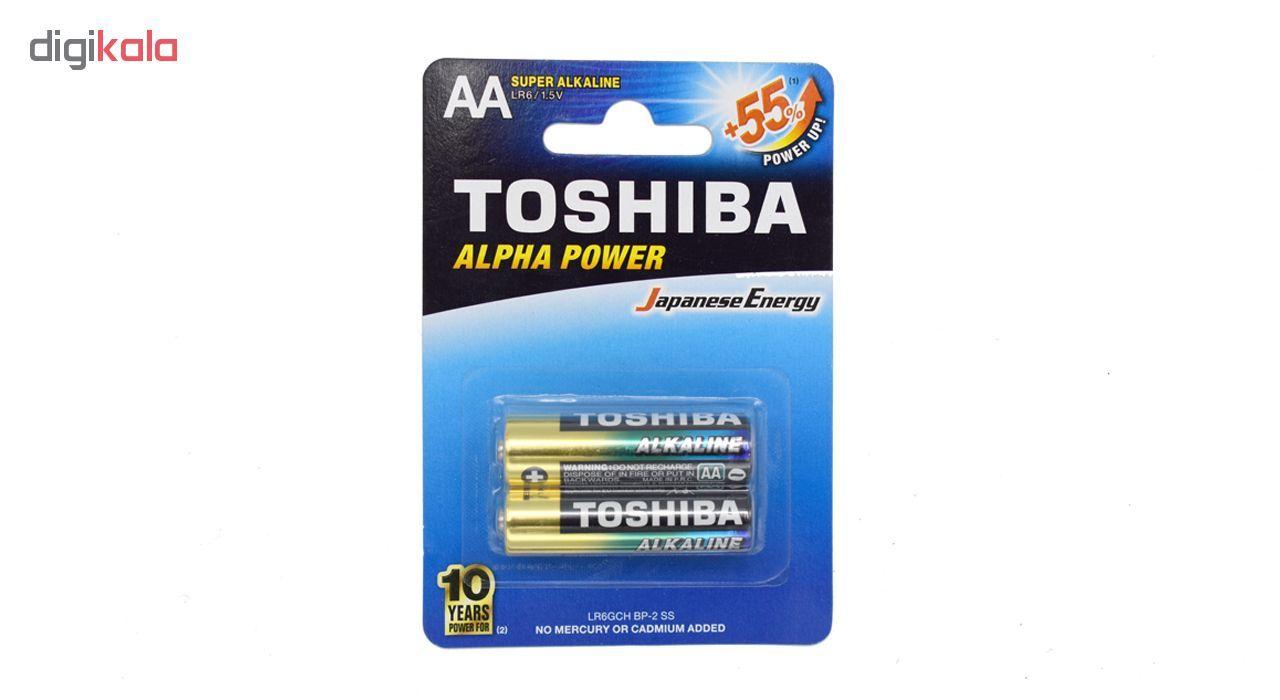 باتری قلمی سوپر آلکالاین توشیبا مدل Alpha Power بسته 2 عددی main 1 1