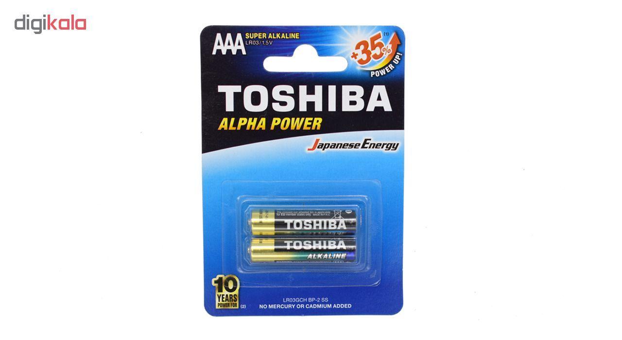 باطری نیم قلمی سوپر آلکالاین توشیبا مدل Alpha Power بسته 2 عددی main 1 1