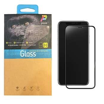 محافظ صفحه نمایش تمام چسب شیشه ای تمپرد پیکسی مدل 5D مناسب برای گوشی اپل آیفون XR