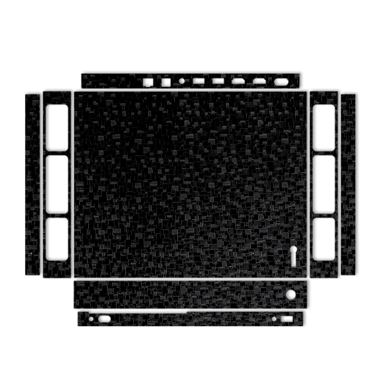 برچسب پوششی مدل Black Silicon Texture مناسب کنسول بازی Xbox One X