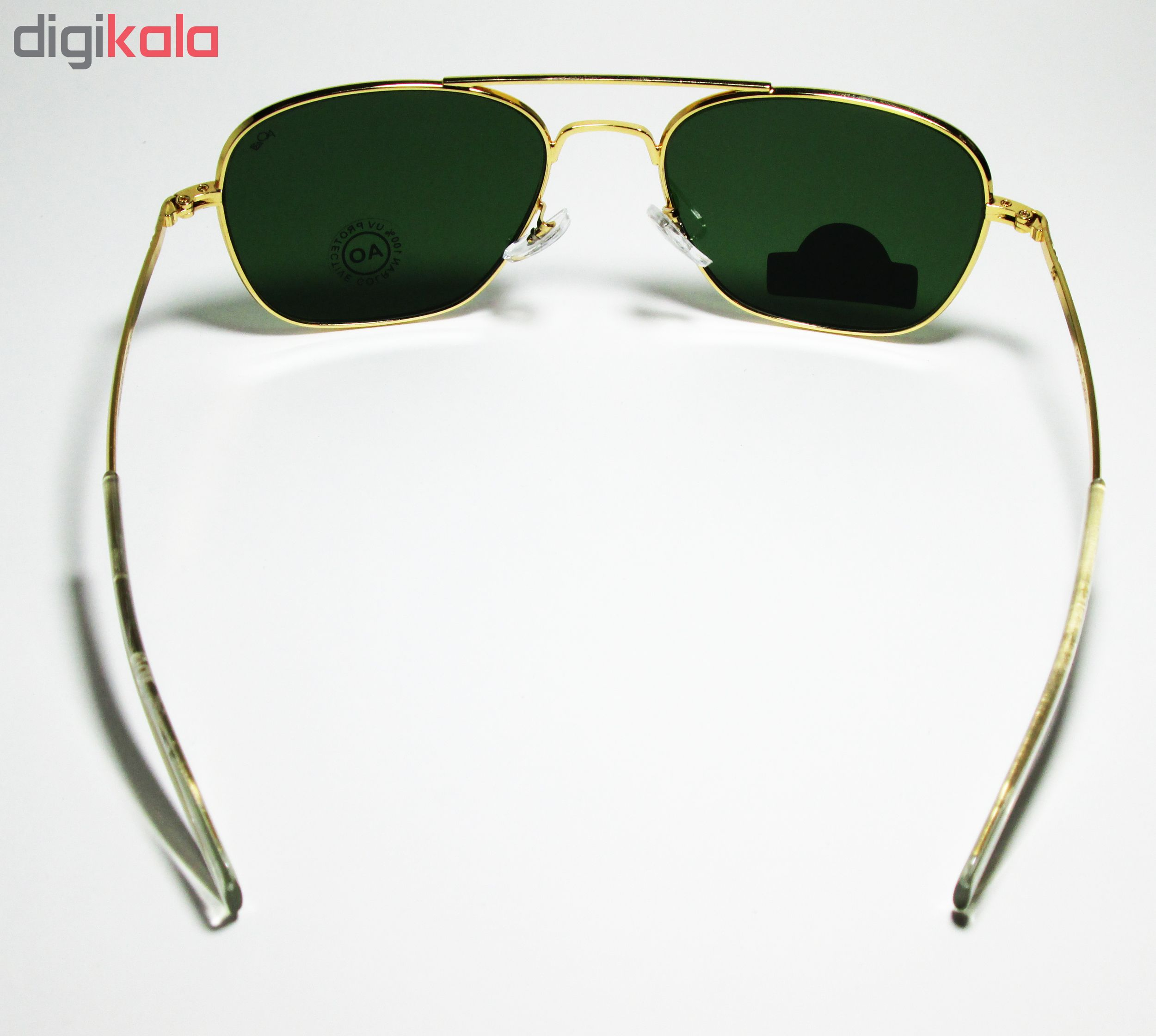 عینک آفتابی AO طلایی مدل 20KGP