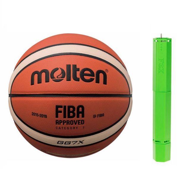 توپ بسکتبال مولتن مدل GG7X به همراه تلمبه فاکس | Molten Basketball