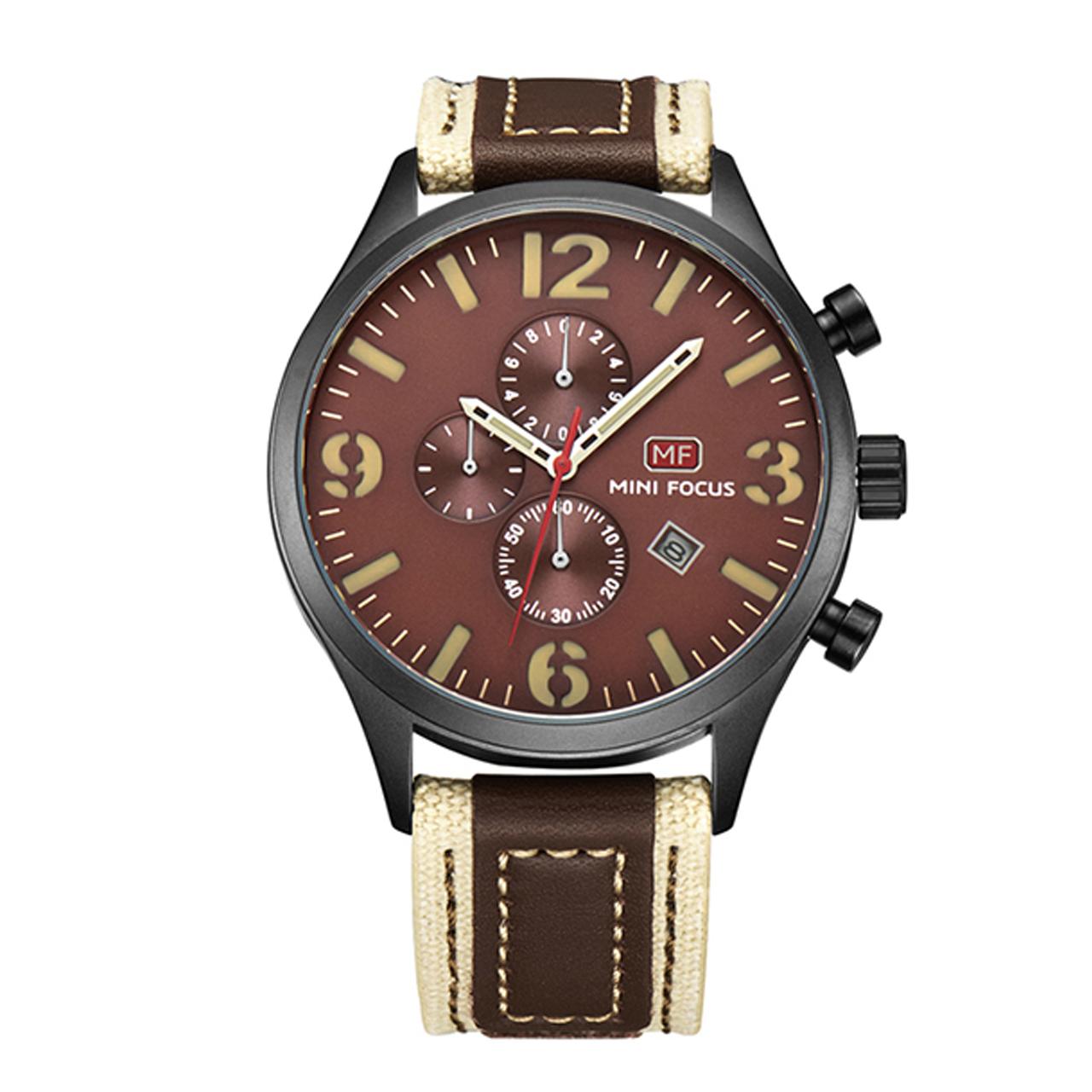 ساعت مچی عقربه ای مینی فوکوس مدل mf0003g.02