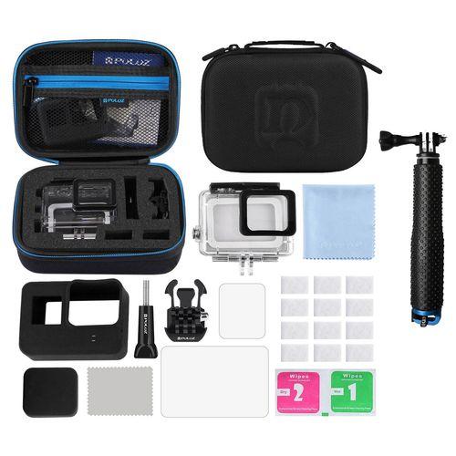 مجموعه لوازم جانبی 12 تکه پلوز مدل P12 همراه با مونوپاد مناسب برای دوربین های ورزشی گوپرو
