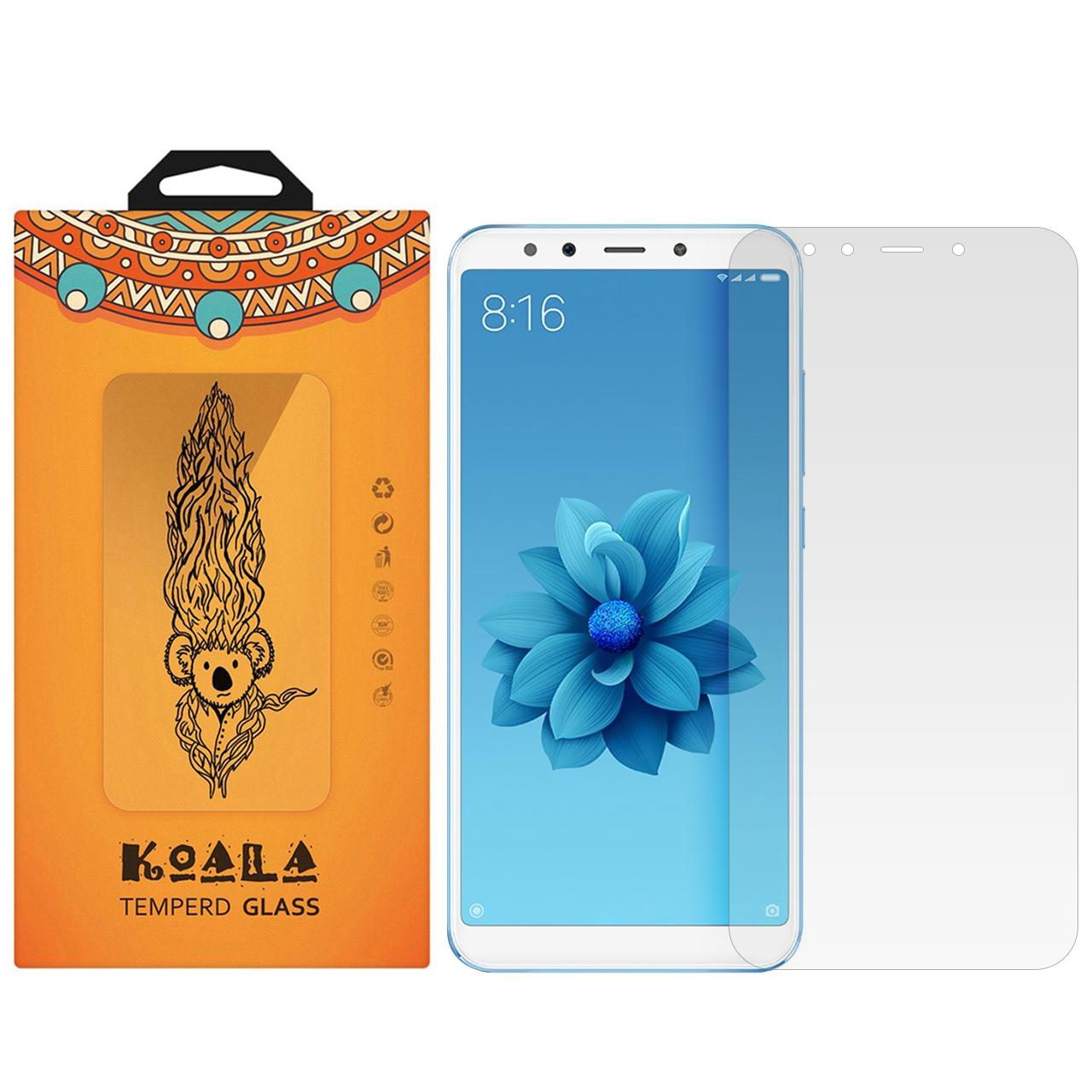 محافظ صفحه نمایش شیشه ای کوالا مدل Tempered مناسب برای گوشی موبایل (Mi A2 (Mi 6X