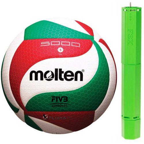 توپ والیبال مولتن مدلV5M5000 به همراه تلمبه فاکس