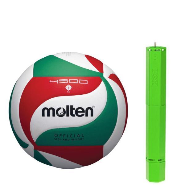 تصویر توپ والیبال مولتن مدل V5M4500 به همراه تلمبه فاکس