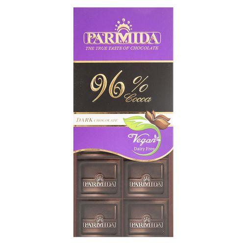 شکلات تلخ 96 درصد پارمیدا مقدار 80 گرم