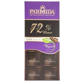 شکلات تلخ 72 درصد پارمیدا مقدار 80 گرم