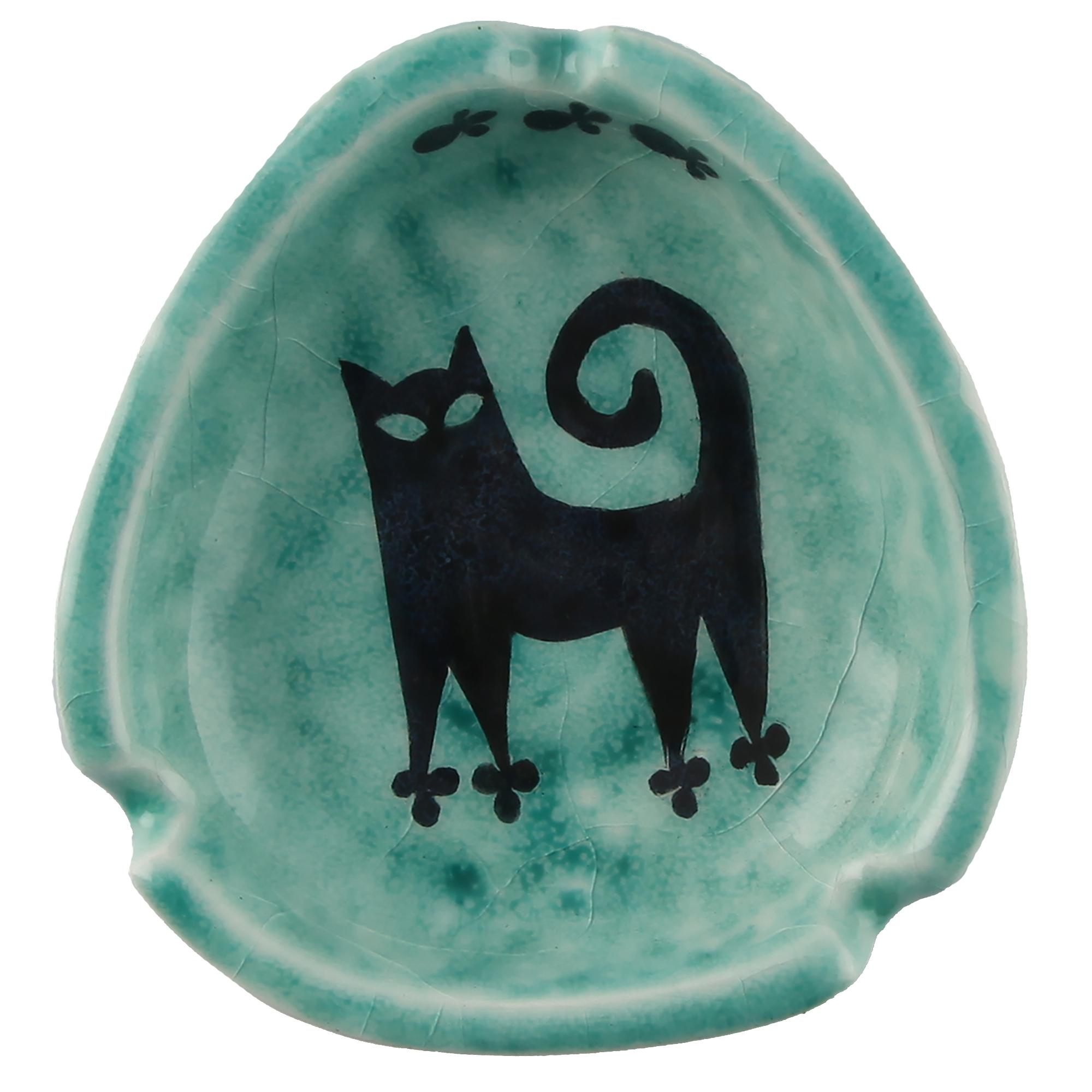 زیرسیگاری سرامیکی گالری اروشا طرح گربه کد 103041