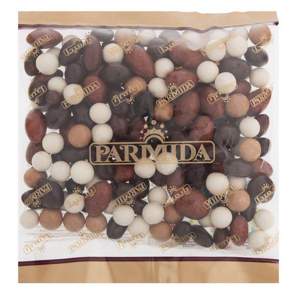 دراژه کاکائویی با غلات و مغز دانه های خوراکی پارمیدا مقدار 400 گرم | Parmida Chocolate Dragees With Grains and Fillings 400gr