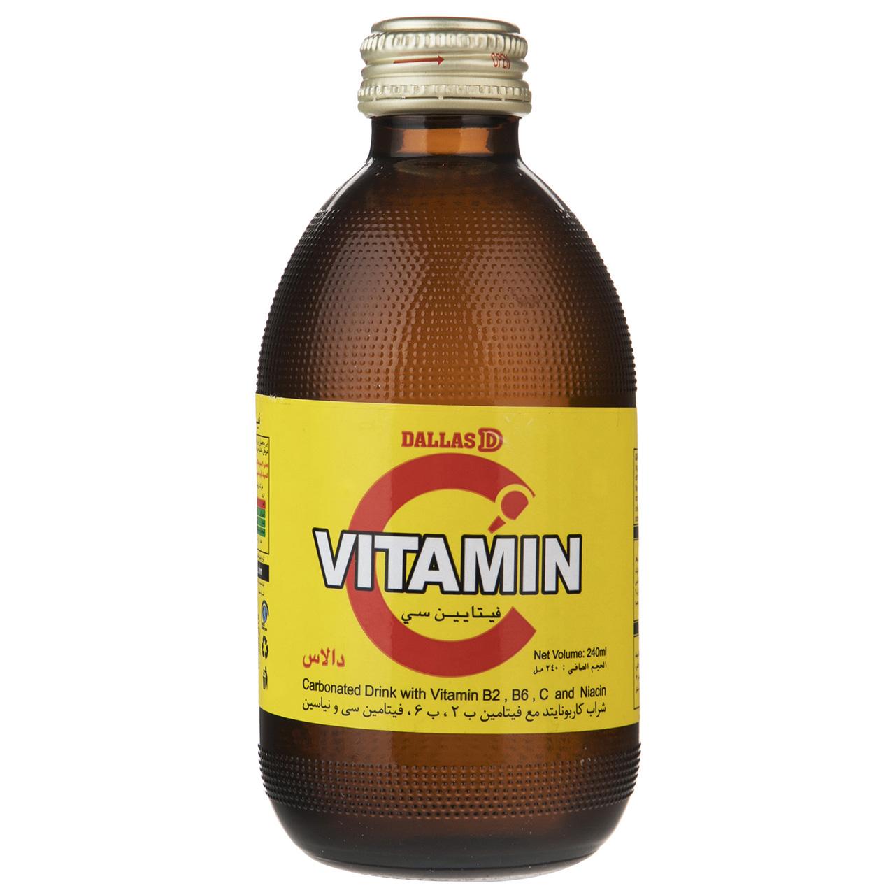 نوشیدنی گازدار ویتامین C دالاس حجم 0.24 لیتر