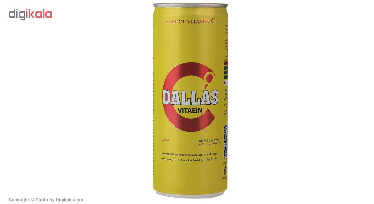 نوشابه انرژی زا Vitaein دالاس مقدار 0.24 لیتر main 1 1