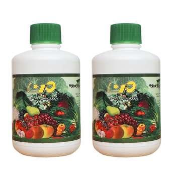 مایع ضدعفونی کننده میوه و سبزیجات من کد 50 حجم500میلی لیتر مجموعه 2 عددی