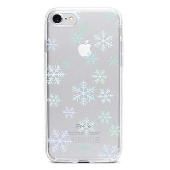 کاور  ژله ای وینا مدل Snowflakes مناسب برای گوشی موبایل آیفون 7 و 8