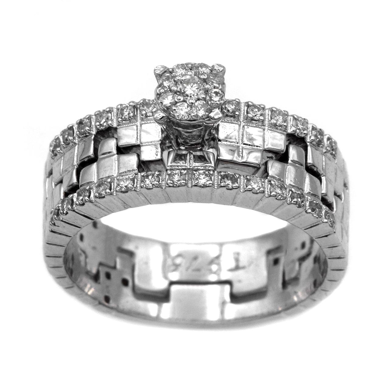 انگشتر نقره جواهری سون مدل 1870
