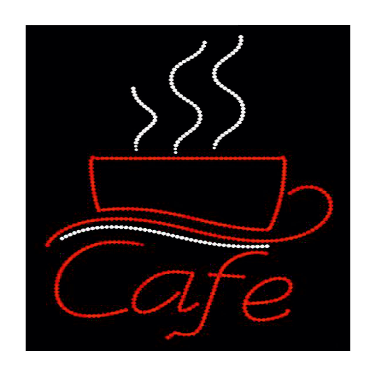 تابلو ال ای دی طرح کافه مدل تک فنجان