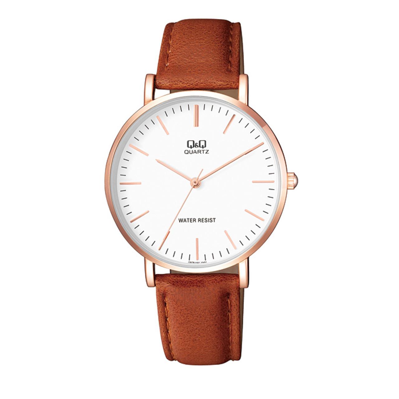 ساعت مچی عقربه ای مردانه کیو اند کیو مدل q978j101y به همراه دستمال مخصوص برند کلین واچ