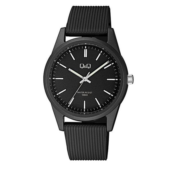 ساعت مچی عقربه ای کیو اند کیو مدل vs12j004y به همراه دستمال مخصوص برند کلین واچ