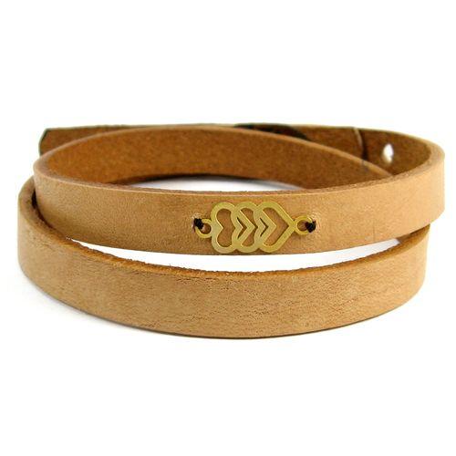 دستبند چرم و طلا 18عیار مانچو مدل bfg026