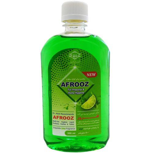 مایع ضدعفونی کننده سطوح افروز مدل CLEANER با رایحه لیمو حجم 500 میلی لیتر