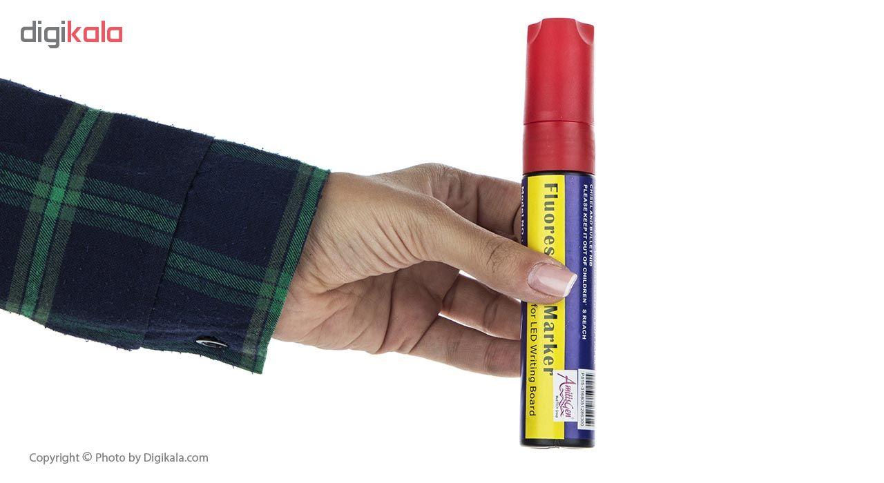 قیمت                      ماژیک مخصوص تابلو ال ای دی مدل HQP815 بسته 6 عددی