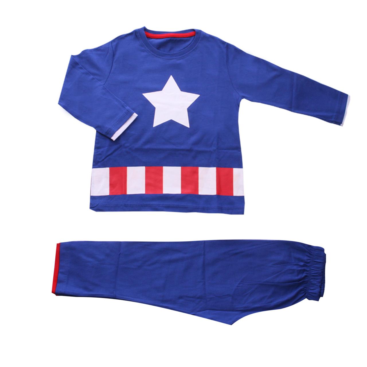 ست لباس پسرانه وچیون طرح کاپیتان امریکا مدل Captain00