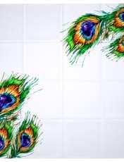 روسری زنانه 27 طرح پر طاووس کد H01 -  - 7